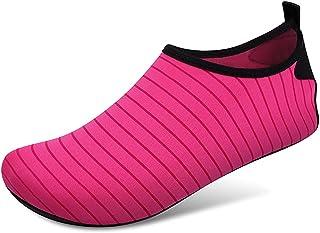 Zwemmen water schoenen sokken, blootsvoets bescherming snel droge aqua sokken voor zee strand zwembad mannen vrouwen,Rose ...