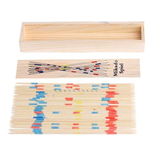 ZJL220 Traditional Mikado Spiel Holz Pick Up Sticks Set Traditionelles Spiel Mit Box Spielzeug