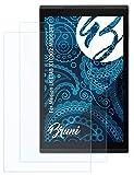 Bruni Schutzfolie kompatibel mit Medion LIFETAB X10302 MD60347 Folie, glasklare Bildschirmschutzfolie (2X)