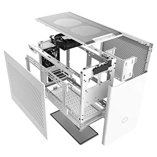 Cooler Master NR200 Caja Mini-ITX de Factor de Forma pequeño SFF Blanco con Panel ventilado, GPU de Triple Ranura, sin… 11