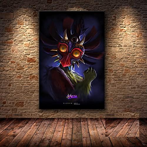 Yiwuyishi Juego electrónico clásico Zelda Poster Family Wall Art Canvas Decoración Pintura Fan Collection Pintura de Pared 50x70cm P-998