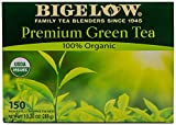 Bigelow Premium 100-Percent Organic Green Tea 150-Count Box, Individually...