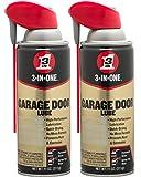 3-in-ONEProfessional Garage Door Lubricant with Smart StrawSprays 2 Ways, 11 OZ Twin Pack, 100584
