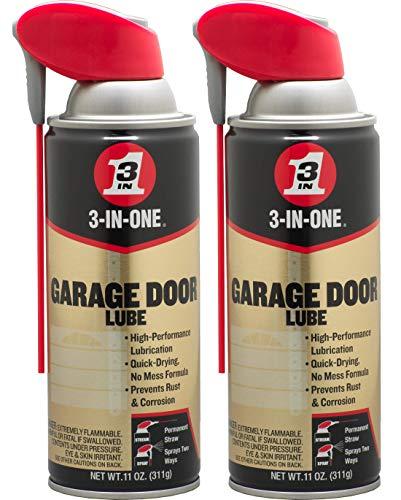 3-IN-ONE Professional Garage Door Lubricant with Smart StrawSprays 2 Ways, 11 OZ Twin Pack, 100584
