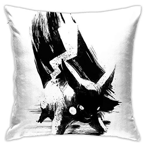 landianguangga Pikachu - Funda de almohada para sofá, dormitorio, coche, casa, fiesta, interior, exterior, 18 x 45,7 cm