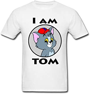 I'am Tom, Cartoon Tommy&Jerry Tees Graphic Funny Generic Novelty T-Shirt