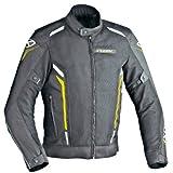 Ixon Blouson Moto Cooler, Noir/Jaune, Taille XS