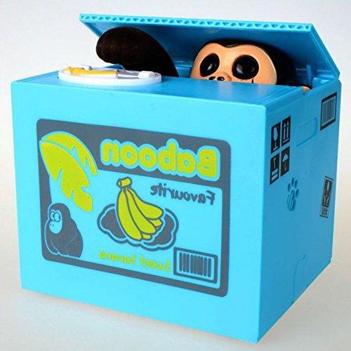 YANGHX Stealing Money Box Coin Bank/Cool Gadgets Electronic Monkey - Novelty Toys Plastic Saving Piggy Bank (Sweet Monkey)