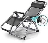 Hogar al aire libre/silla de gravedad cero reclinable ajustable plegable jardín al aire libre césped terraza silla de sol tumbona perezoso