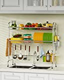 Over The Sink Dish Drying Rack, Cambond 2 Tier Dish Drainer Shelf Large...