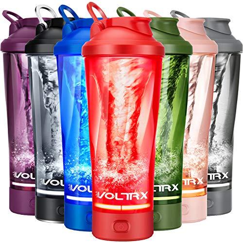 VOLTRX Elektrischer Protein-Shaker Flasche mit Tritan - BPA-frei - 61 ml Vortex tragbarer Mixer Cup/USB wiederaufladbarer Shaker Becher für Proteinshakes, Mixerflasche FDA-zugelassen, rot, 24 oz