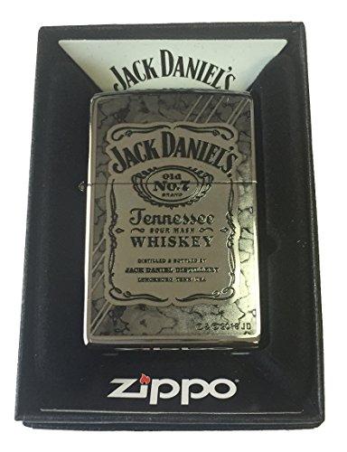 Zippo Custom Lighter - Jack Daniel's Tennesse Whiskey Fusion Design High Polish Chrome - Gifts for Him, for Her, for Boys, for Girls, for Husband, for Wife, for Them, for Men, for Women, for Kids