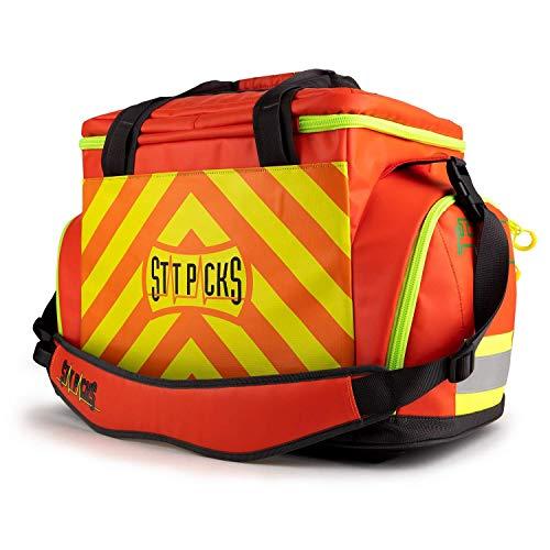 StatPacks G4 Retro Shoulder Pack, Large Red/Yellow, EMS Jump Bag EMT Medic Backpack, ALS BLS Trauma Bag for First Responders, Police, Firefighters