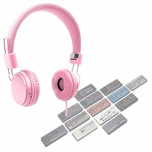 DURAGADGET Auriculares De Diadema Color Rosa para Serie Roland Boutique TR-09, D-05, VP-03, JX-03, JP-08, SE-02, SH-01A, JU-06, TB-03, TR-08 Combinar con Su Dispositivo!