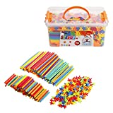 Straws and Connectors Builders Set - Straw Constructor STEM Construction Building Toy – 800 Pieces - Educational Toys Boy & Girl