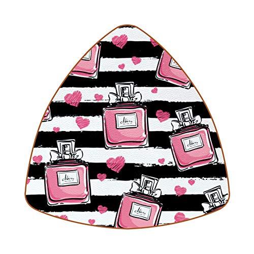 Juego de 6 posavasos con diseño de rayas de perfume rosa