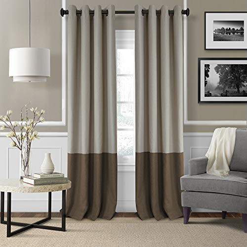 Elrene Home Fashions 26865874662 Braiden Room Darkening Grommet Window Curtain Drape Panel, 52u0022 x 95u0022, Chocolate, 1