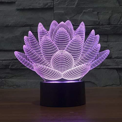 Planta creativa Suculenta Lámpara de mesa 3D Acrílico Luz de noche LED Luz decorativa multicolor Regalo