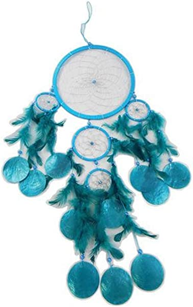 Barry Owens Turquoise Dream Catcher With Capiz Shells BV312 8 5 Inches X 25 Inches