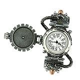 IPOTCH Reloj de Pulsera Relojería de Aleación de Movimiento de Cuarzo Steampunk Novedad Rock para Hombre - Blanco 2