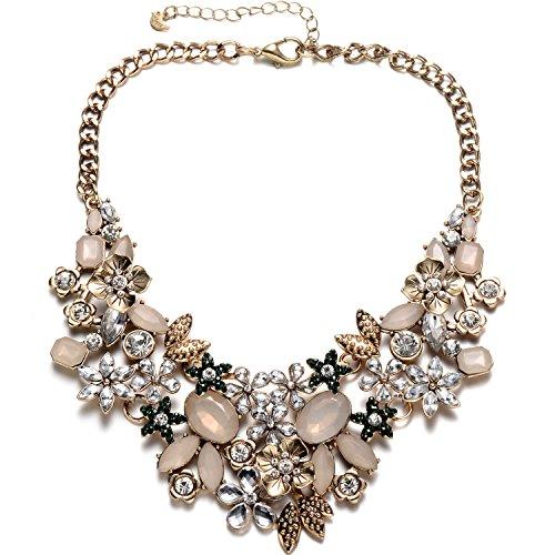 collana donna 40 anni Vintage oro tono catena collare collana girocollo cristallo scintillante per party