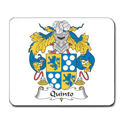 Quinto Family Crest Coat of Arms Mouse Pad