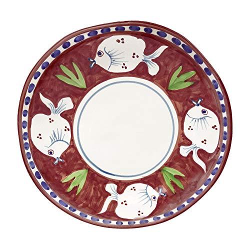 Juego de 2 platos llanos de cerámica POSEIDONE 29 cm Arcucci (burdeos)