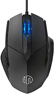 Computer Mouse 3 Buttons Ergonomic Wired USB Gaming Mouse Gamer Mice Silent Mause Optical Mouse for PC Laptop (Color : Black)