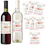 Bridesmaid and Maid of Honor Wine Bottle Labels, Set of...