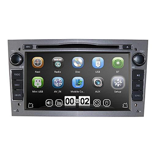 Grau 7 Zoll 2 Din Autoradio Moniceiver DVD Player für Opel Astra Corsa Zafira Meriva Vivaro Vectra Antara Unterstützt GPS Navigation Bluetooth CD VCD Lenkradfernbedienung