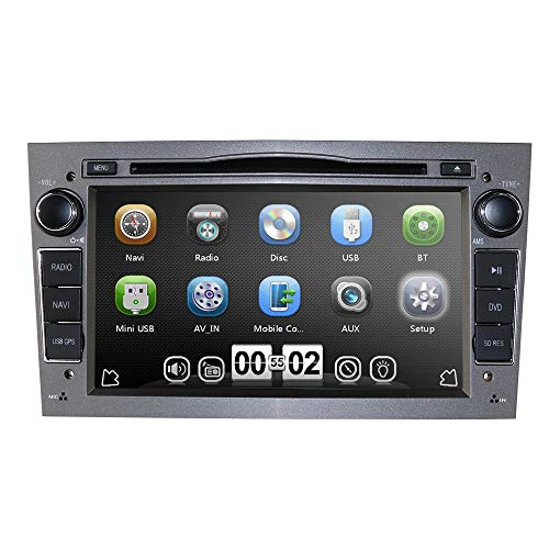 7' Car Audio Stereo Double Din In Dash for Opel Vauxhall Corsa Vectra Astra Support GPS Navigation DVD Player Bluetooth Car Radio USB SD Cam-In + Rear camera