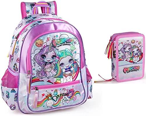 POOPSIE Slime Surprise - Mochila y estuche para niña, diseño de unicornio