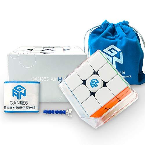GAN GAN356 Air M Stickerless, 3x3 Magnetic Speed Cube Magic Cube (ver.2020)