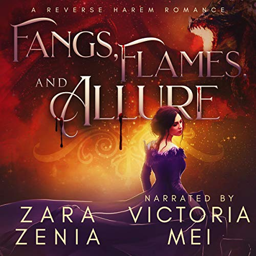 Fangs, Flames, and Allure: A Reverse Harem Romance     Vampire Dragon Shifter Reverse Harem, Book 2              Written by:                                                                                                                                 Zara Zenia                               Narrated by:                                                                                                                                 Victoria Mei                      Length: 7 hrs and 25 mins     Not rated yet     Overall 0.0