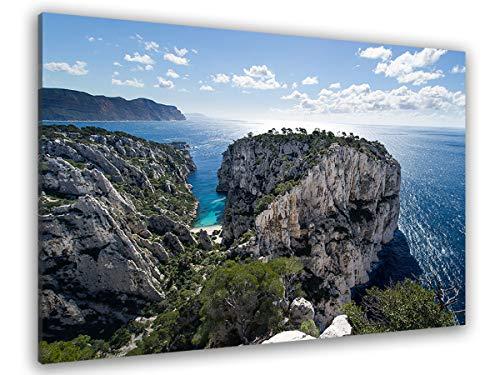 Hexoa - Cuadro de playa y calancas de casis – Hecho en Francia – Cuadro cristal acrílico – 100 x 60