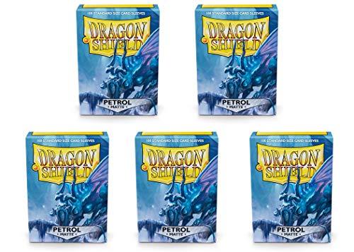 5 Packs Dragon Shield Matte Petrol Standard Size 100 ct Card Sleeves Value Bundle! image