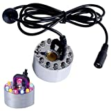 CNZ Mist Maker Fogger Replacement Mister with 12 LED Lights (Mist Fogger with LED Light)...