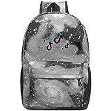 352 Tik-Tok Unisex Rucksack Fashion Laptop Tasche Leichter Reiserucksack Schulranzen für Männer und Frauen, grau, Einheitsgröße