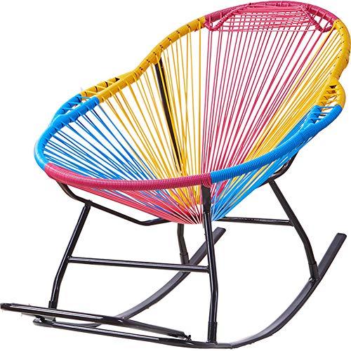 WJQ Silla Mecedora Moderna y cómoda, la Mejor Estructura y Durabilidad, fácil de Mover, diseño...