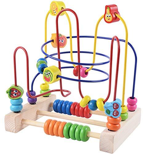 ZHJC Juguetes de Laberinto de Cuentas Actividad de Madera Cube Actividad Centro Multifuncional Bead Maze Toy Toy Bead Maze Juguetes educativos Multiusos (Color : Multi-colored2, Size : One Size)