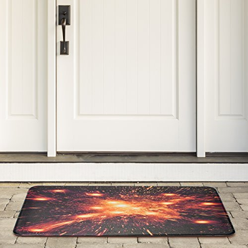 Sorbus Floor Mat, Explosion Print – Soft Durable Cushion Carpet Area Rug for Kitchen, Front Door Entry, Hallway, Bathroom, 31.50 in x 20.25 in (Explosion Print)