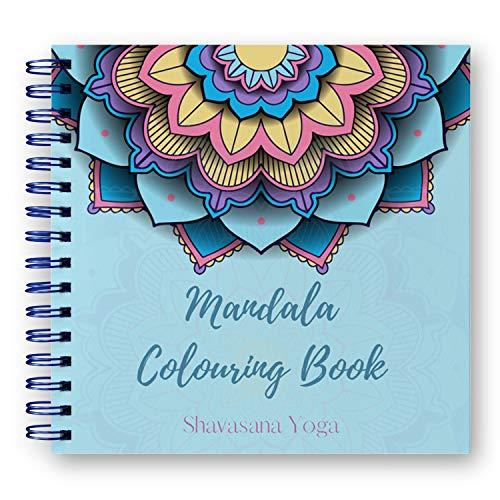 Libro de Colorear Mandalas para Adultos - 60 Ilustraciones Originales de Animales, Flores y Naturaleza.Elimina 100% el Stress y los Nervios - Papel ExtraGrueso 21*21