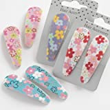 Hair Slides With Pastel Flowers -