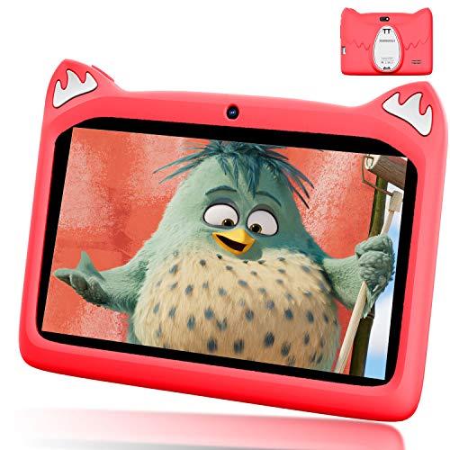 Tablet 7 Pollici con WiFi Offerte, Andriod 9.0 Quad Core 3GB RAM+32 GB ROM, 4000mAh Tablet Bambini 7 Pollici, Dual Cámara, iWawa preinstallato/Play Store Kids Tablet Offerta Del Giorno(rosso)