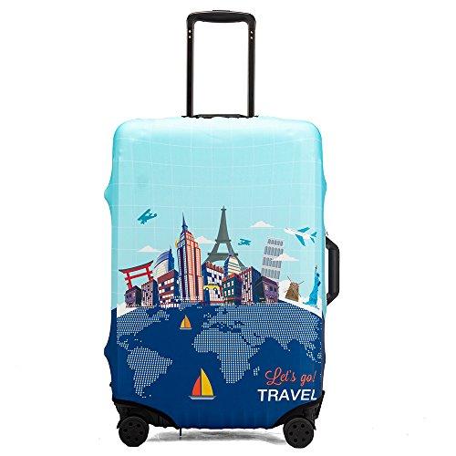 """Maddy's Home Elastica Suitcase Cover Proteggi bagagli luggage Cover,Pop Gatto (Go Travel, L (Fit 26""""-28"""" suitcase))"""