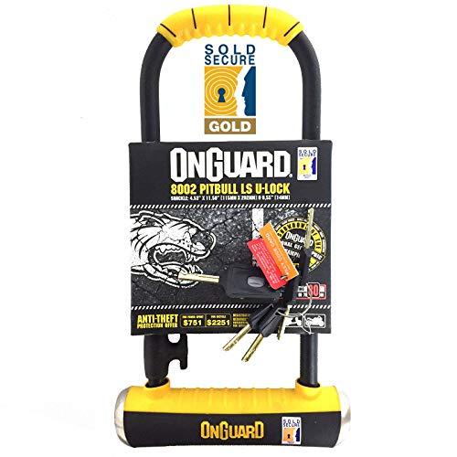 OnGuard Pitbull LS 8002 Long Shackle Bike U-Lock (Sold Secure Gold)