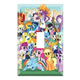 Single Toggle Wall Switch Cover Plate Decor Wallplate - My Little Pony Friendship is Magic