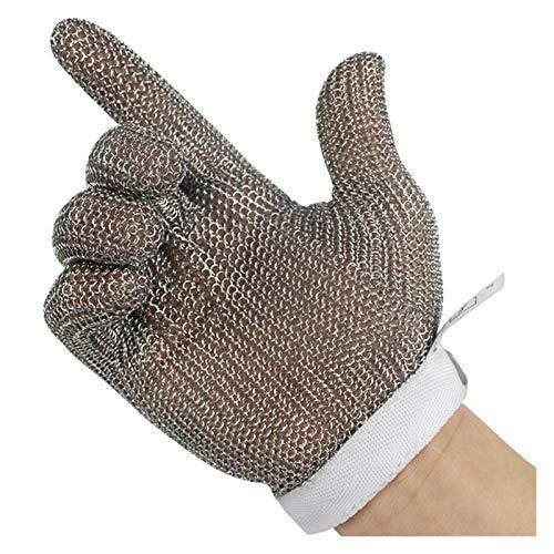Schnittfeste Handschuhe Anti-Schneidhandschuhe Food Grade 5 Schutz, Küche Und Außendienst Safety Work Handschuhe, 6 Größen (Size : Small)