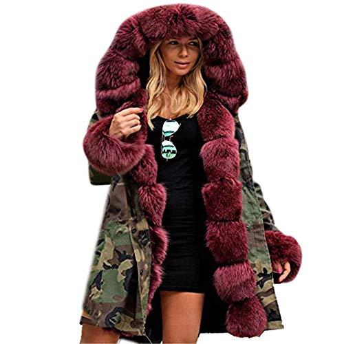 Dames winter verdikte parka capuchon ski outdoor kunstbont jas mantel grootte Fashion Completi maten gewatteerde jas mode 2019 vrouwen kleding
