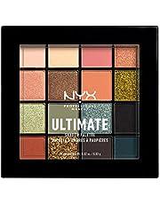NYX Professional Makeup, Ultimate oogschaduwpalet, geperste pigmenten, veganistische formule, 16 kleuren, mat, zijdemat, metallic